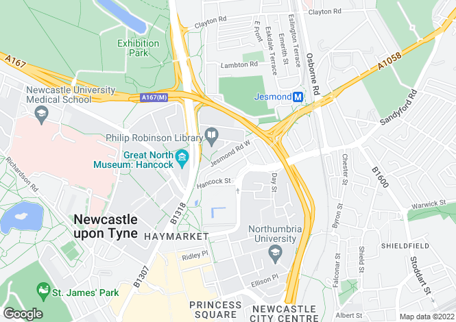 Map for Carlton Terrace,