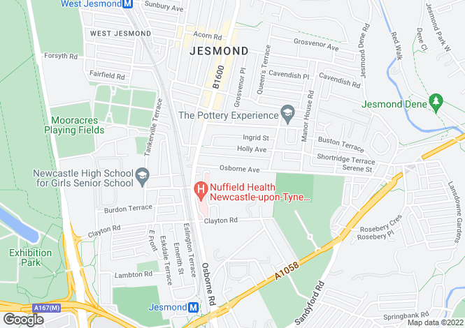 Map for Osborne Avenue,