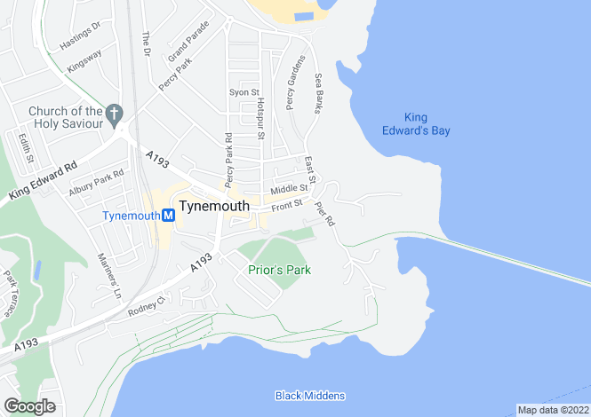 Map for Front Street, Tynemouth, Tyne and Wear