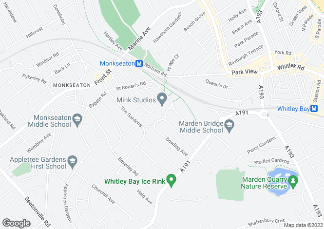 Map for 21 Wilson Court, Monkseaton