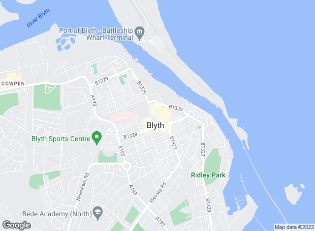 Map for Lucas James, Blyth