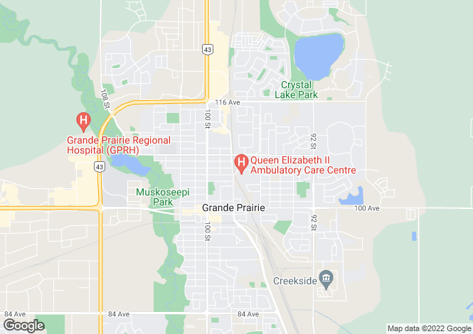 Map for Alberta, Grande Prairie