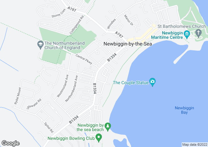 Map for Grasmere Terrace, Newbiggin By The Sea