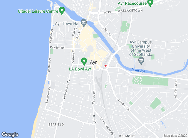 Map for Donald Ross Estate Agents, Ayr