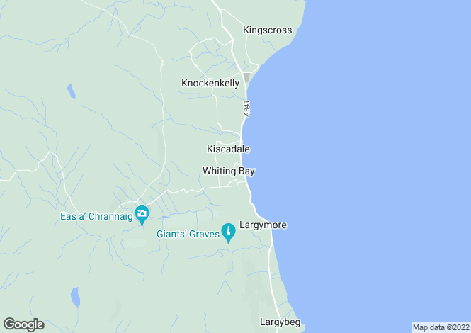 Map for The Grange, Whiting Bay, Isle of Arran, North Ayrshire, KA27