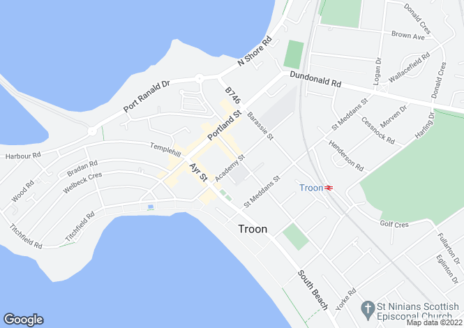 Map for Academy Street,