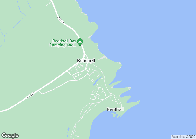 Map for Beadnell, Harbour Road