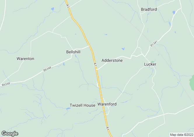 Map for Nr Belford, Warenford, Adderstone View