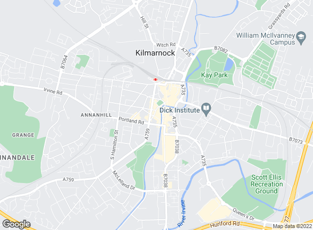 Map for Allen & Harris, Kilmarnock
