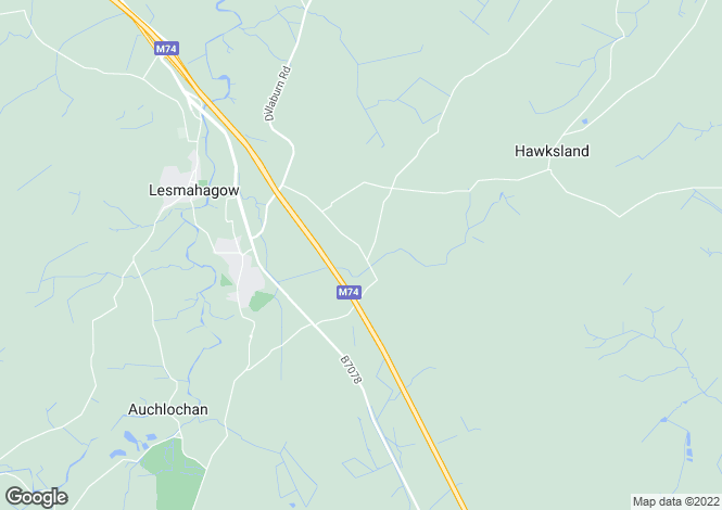 Map for Devonburn Road, Lesmahagow, Lanark, ML11