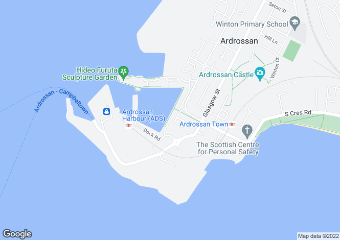 Map for 9 Dockers Garden Ardrossan