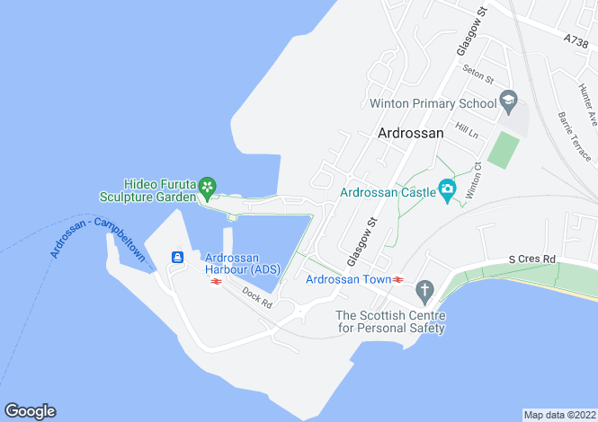 Map for Mariners View, ARDROSSAN,