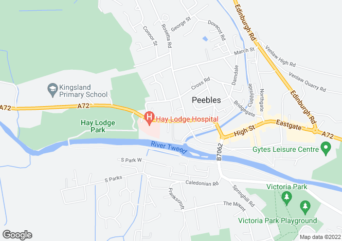 Map for Lindores Guest House, 60 Old Town, Peebles, Scottish Borders, EH45