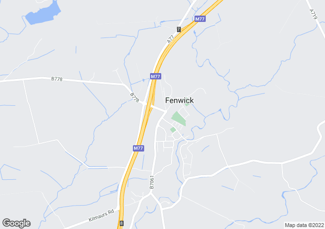 Map for Main Road, Fenwick, Kilmarnock, East Ayrshire