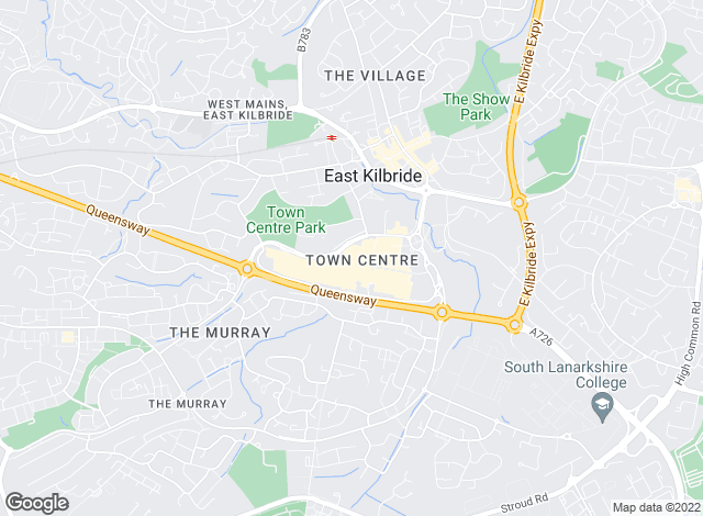 Map for YOUR MOVE, East Kilbride