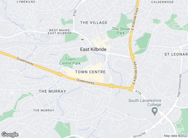Map for Slater Hogg & Howison, East Kilbride
