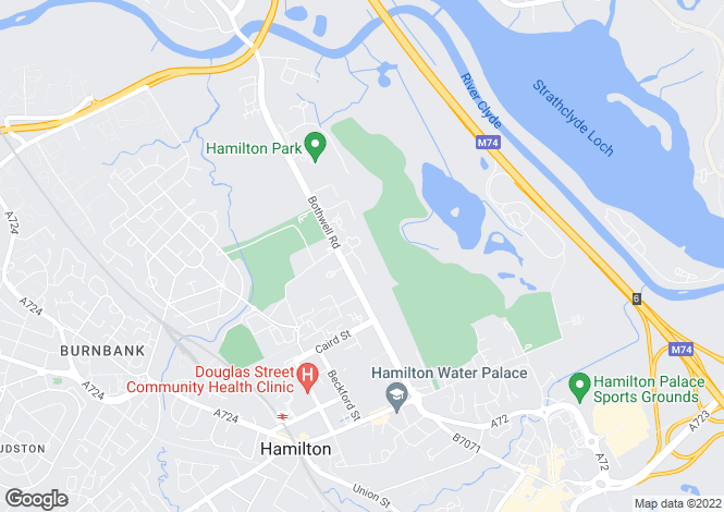 Map for Hamilton Park South, Hamilton, ML3
