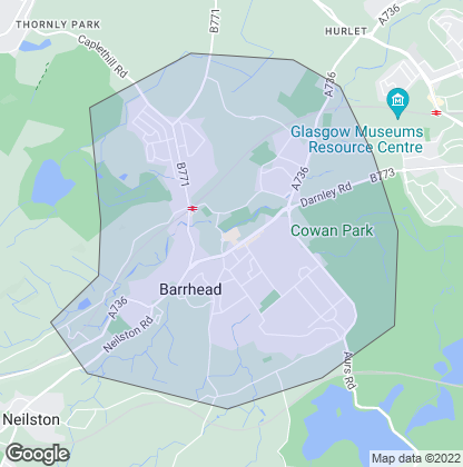 Map of property in Barrhead