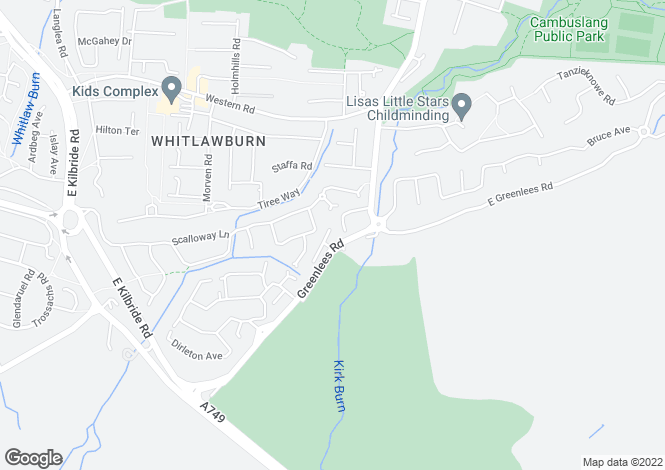 Map for Kirkhill Mews Greenlees Road, Cambuslang, G72 8YG