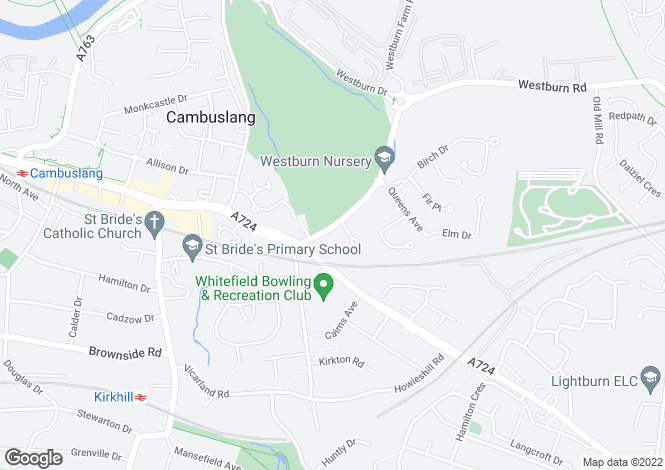 Map for Westburn Road,