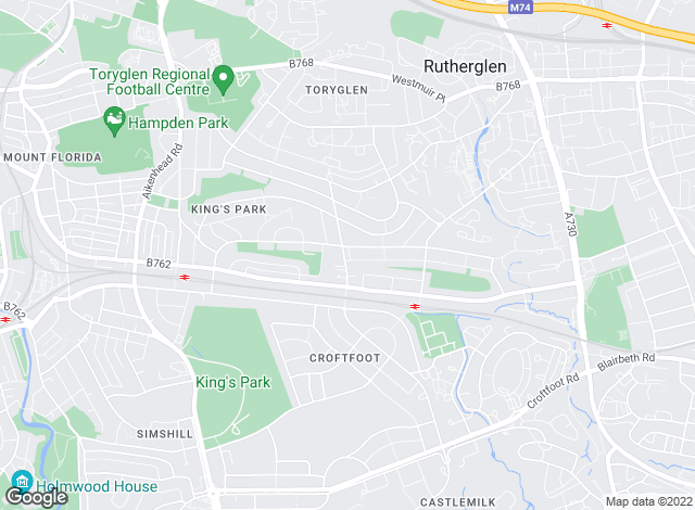 Map for AVJ Homes, Glasgow