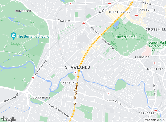 Map for Allen & Harris, Shawlands Glasgow