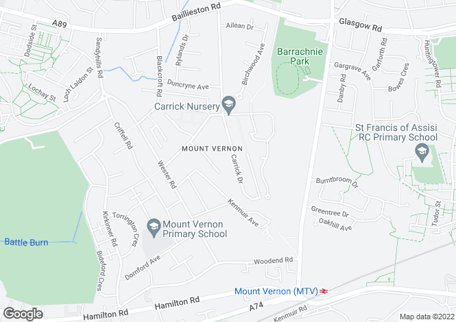 Map for Carrick Drive,