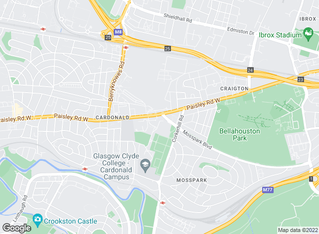 Map for Scottish Property Centre, West Glasgow