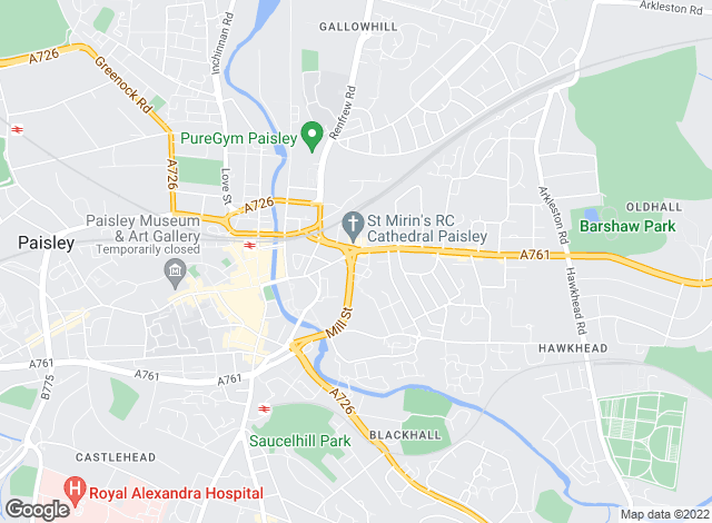 Map for patchproperty.co.uk, Renfrewshire - Sales
