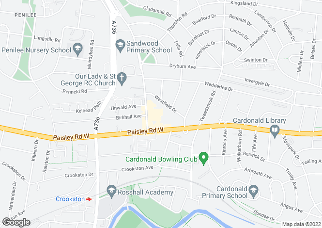 Map for 44 Hillington Road South <br> Cardonald, Glasgow