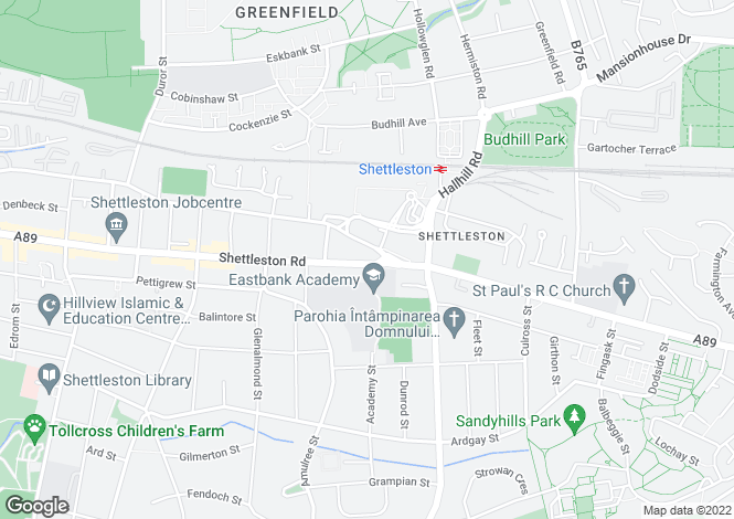 Map for Shettleston Road,