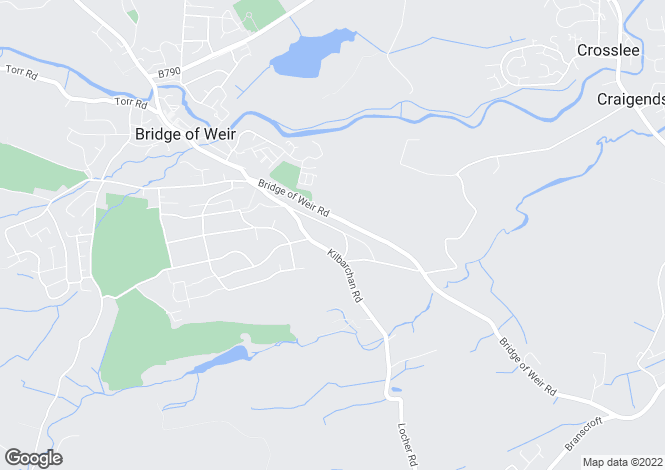 Map for 'Barcraig' Bankend Road, Bridge of Weir, PA11 3EU