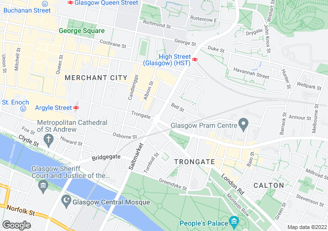 Map for 80 High Street, Glasgow,  G1 1NB