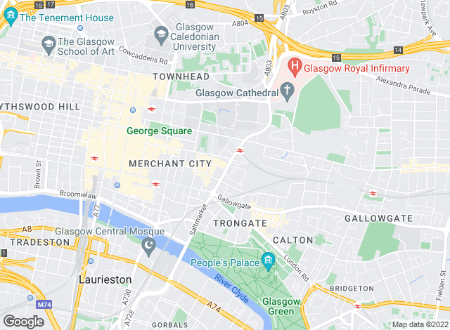 Map for Infiniti Properties, Glasgow