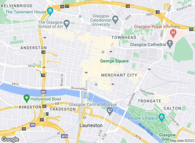 Map for PRW Properties, Glasgow