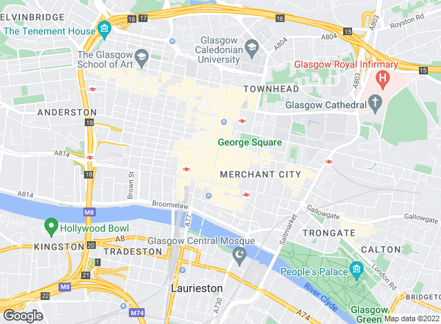 Map for Merchant Lettings, Glasgow City Centre