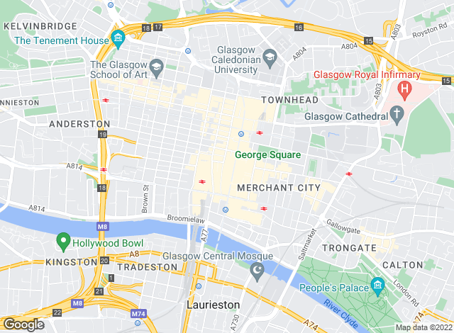 Map for Raeside Chisholm, Glasgow