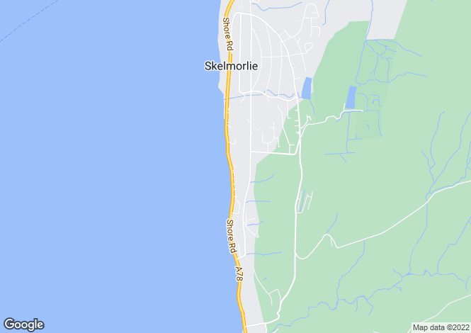 Map for Shore Road, Skelmorlie, North Ayrshire