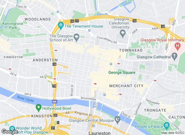 Map for Jones Lang LaSalle, Glasgow