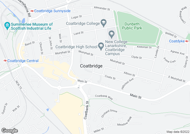 Map for Jackson Street, Coatbridge