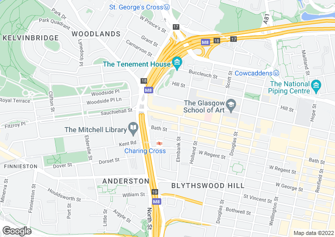 Map for 425 Sauchiehall Street,