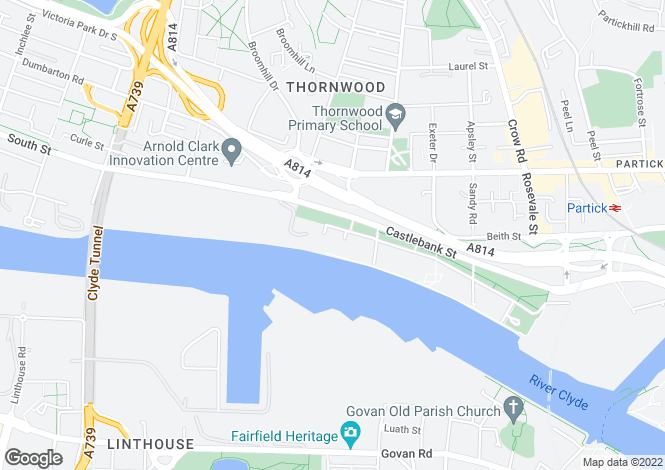 Map for Glasgow Harbour Terraces,