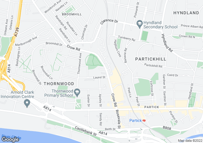 Map for Crow Road, Partick