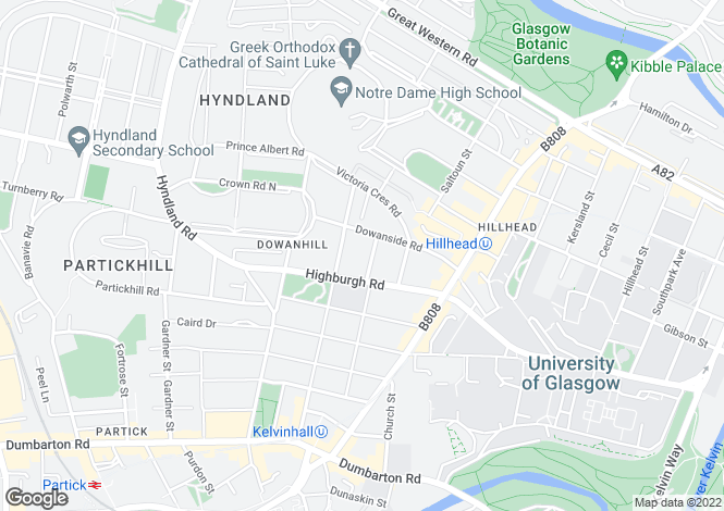 Map for 1st Floor Flat, Beaumont Gate, Dowanhill, Glasgow