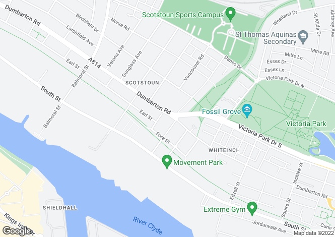 Map for Dumbarton Road, Scotstoun, G14