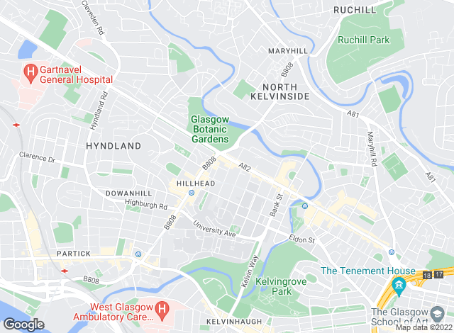 Map for Merchant Lettings, Glasgow West End