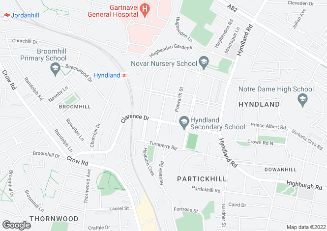 Map for Airlie Street,Hyndland,GLASGOW,Lanarkshire,G12 9TP,Scotland