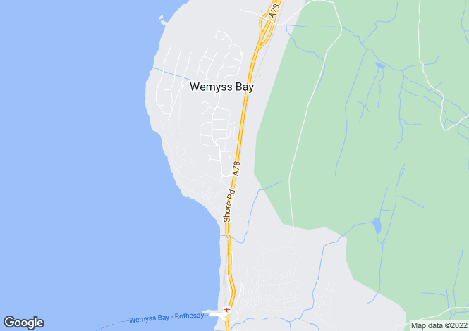 Map for Wemyss Bay