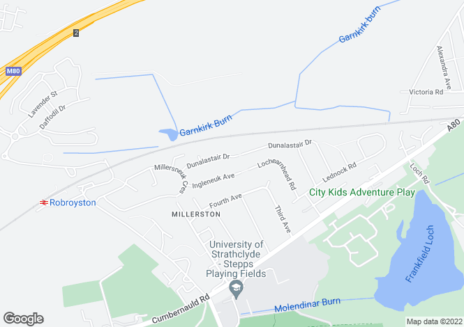 Map for 145 Dunalastair Drive, Millerston, G33 6LY