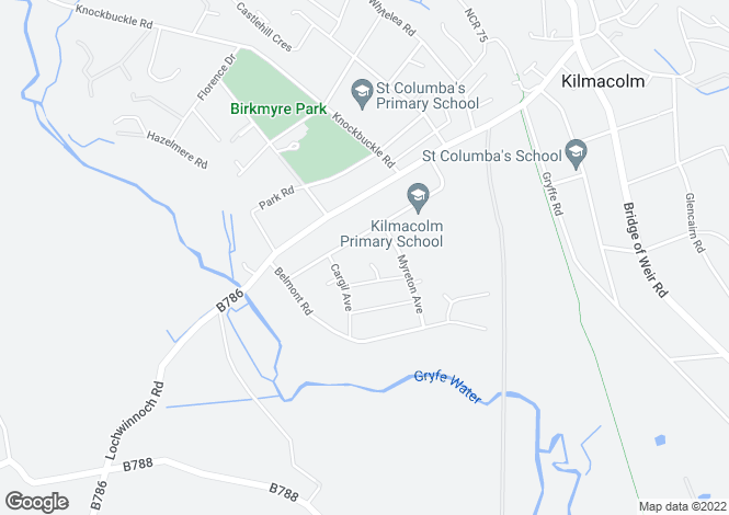 Map for Balmore Court,Kilmacolm, Kilmacolm, Inverclyde